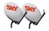 4 antena ku 60 cm sky 8 conector 1 caixa de cabo 6 lnb duplo