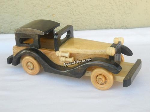 4 autos antiguos de madera pintados envio gratis caba