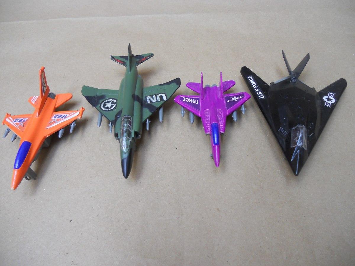 4 Aviones Guerra Plástico - Juego Juguete Precio Por Los 4