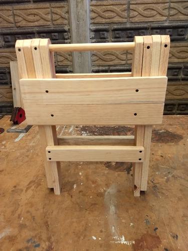 4 bancos plegables de madera uso rudo jardín fiesta reunión