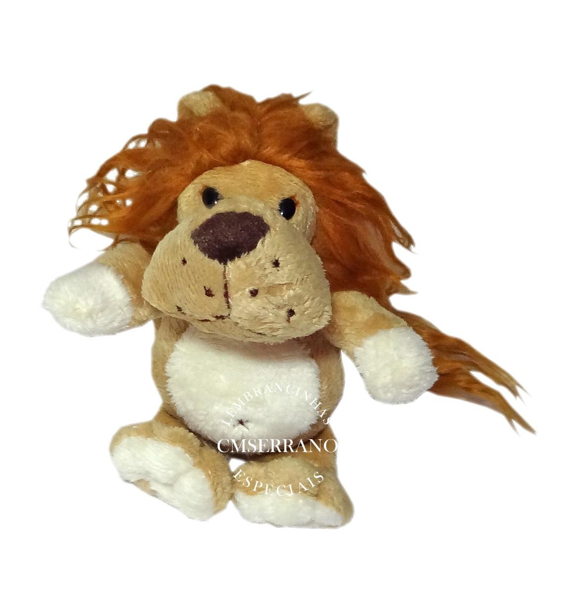 63c7f12f4 4 bichinhos pelúcia safari leão macaco onça tigre 16 cm. Carregando zoom.