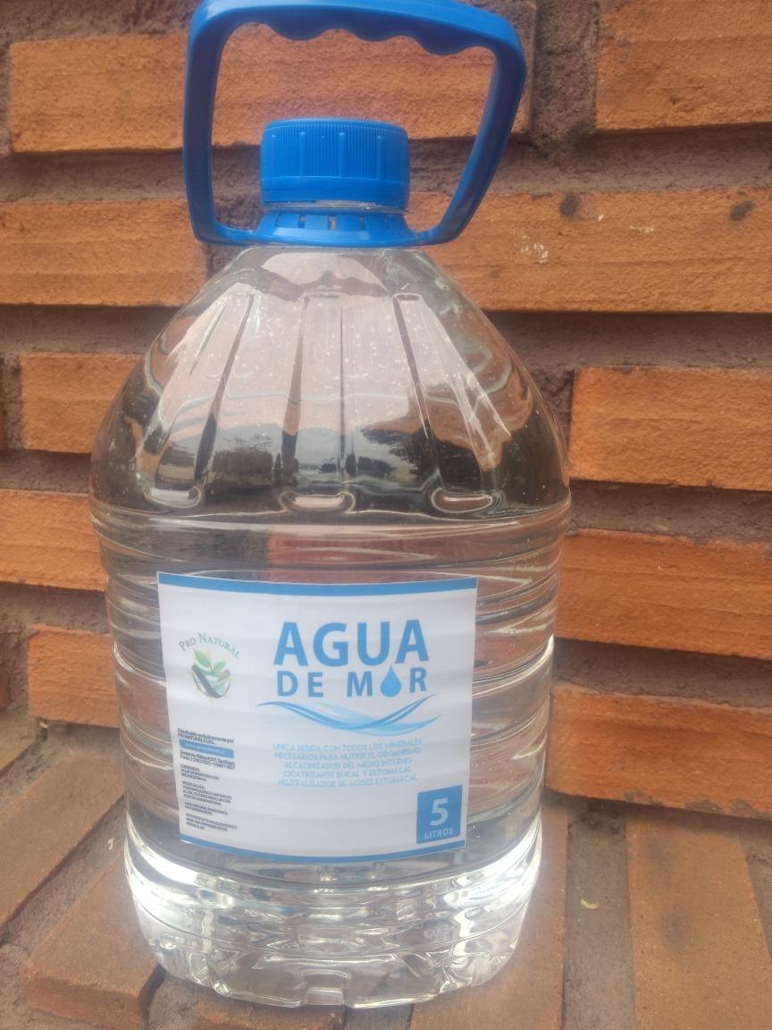 4 Bidones 5 Litros Agua De Mar Pura Microfiltrada Con Boleta