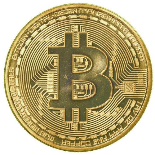 4 bitcoin moedas física banhada a ouro colecionador