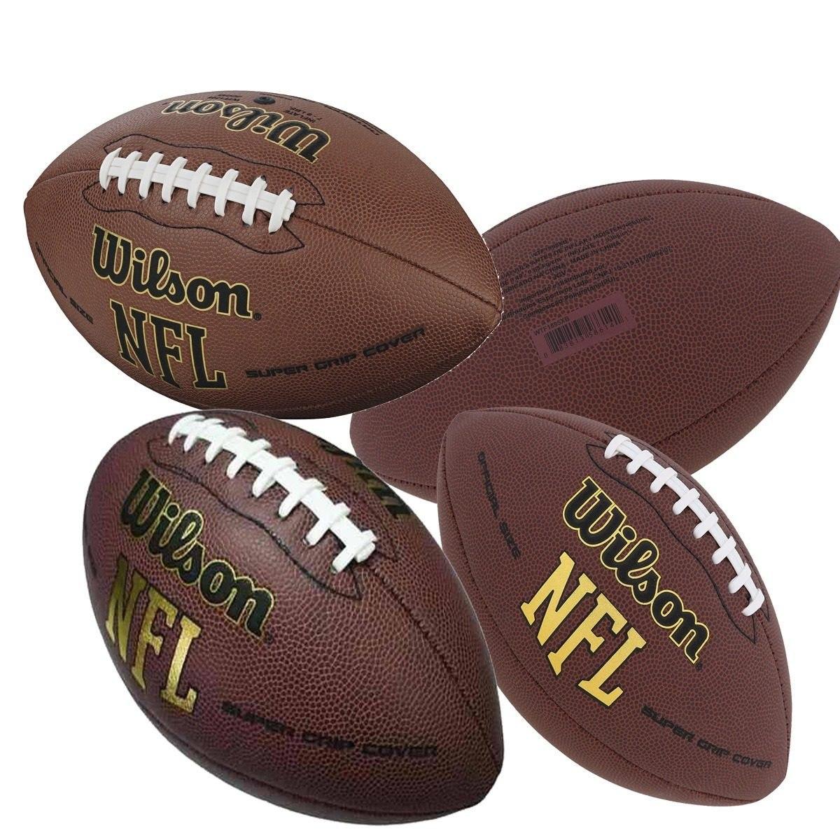 4 bolas de futebol americano wilson nfl super grip original. Carregando  zoom. 1b65b7f822b8e