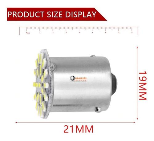 4 bombillos direccional led blanca 1156 carro/moto universal