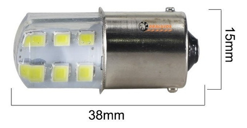 4 bombillos direccional para moto/carro blanco silicona univ