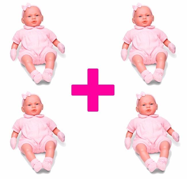 2870eaed9 4 Bonecas Bebê Real 5075 - Roma Brinquedos - R  259