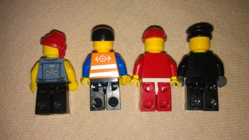 4 bonecos lego originais ótimo estado