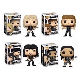 4 Bonecos Metallica Funko Pop! Banda Rock N Roll Heavy Metal