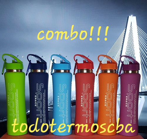 4 botella térmica 500 ml sport tipo romania - incluye envío!