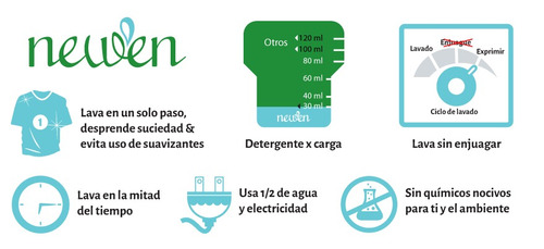 4 botes newen detergente ecológico 1 litro