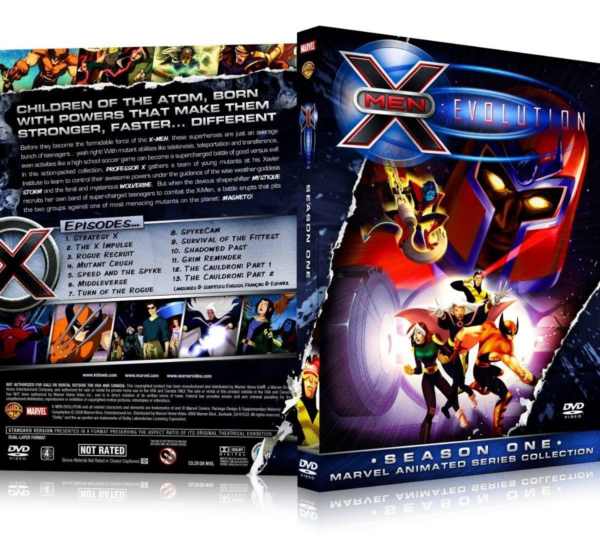 4 Box X Men Evolution 1ª 2ª 3ª E 4ª Temporadas Dubladas R