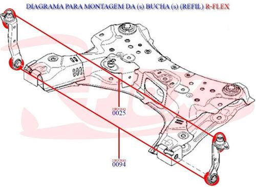 4 buchas do braço dianteiro quadro motor renault megane tds.