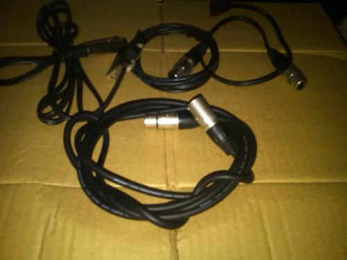 4 cables ficha audio y viideo nuevo de calidad