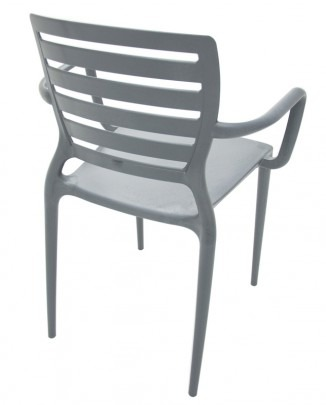 cf62b391904 4 Cadeira Plástico Sofia Vazada Grafite Tramontina 92036007 - R ...
