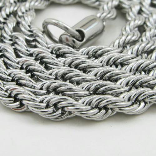 4 cadenas soga de acero quirúrgico 2/3/4 mm x45/50cm xmayor