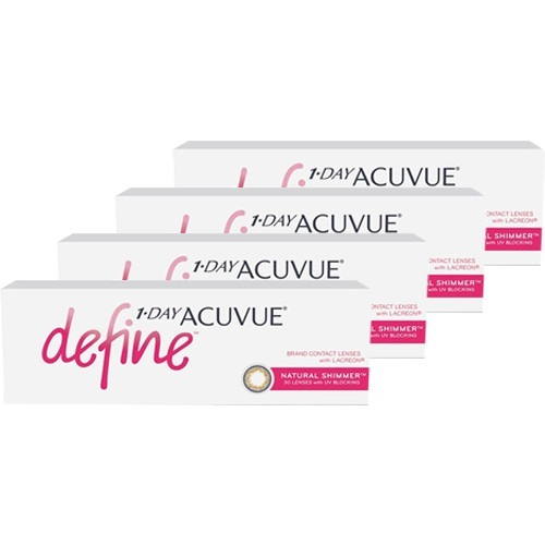 4 Caixas 1-day Acuvue Define Shimmer (efeito Realce Médio) - R  387 ... 511be4ac96