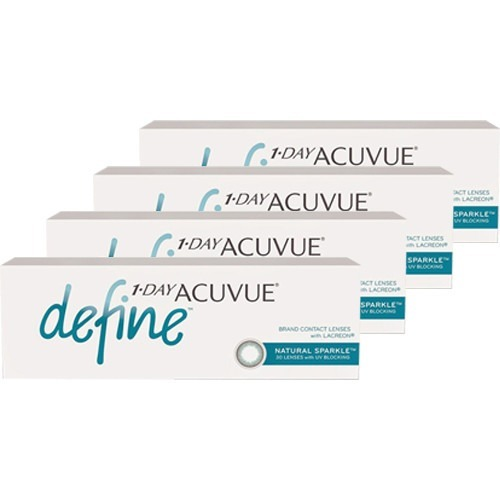 d836c17c7938f 4 Caixas 1-day Acuvue Define Sparkle (efeito Realce Leve) - R  387 ...