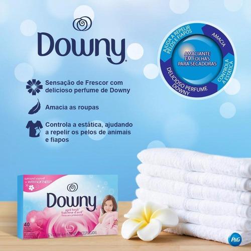 4 caixas downy amaciante lenço secadora roupa perfumado c/80