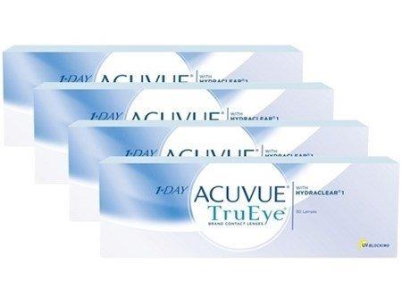 2a5993616d4e7 4 Caixas Lentes De Contato 1-day Acuvue Tru Eye Melhor Preço - R ...