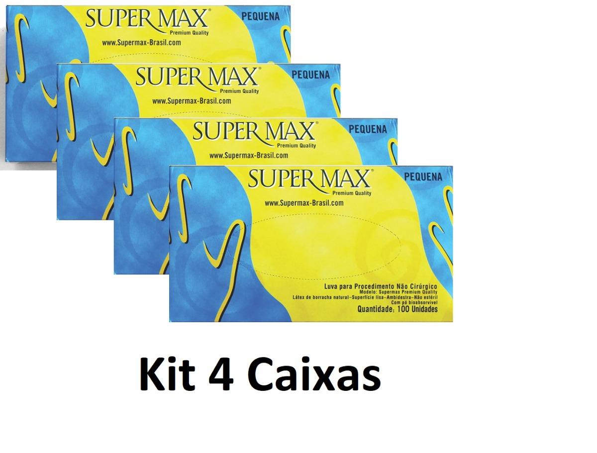4 caixas luva procedimento látex supermax descarpack anvisa. Carregando  zoom. 85329266e3