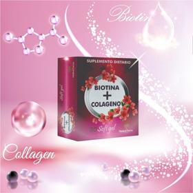 4 Cajas Biotina + Colágeno Fortale - Unidad a $833
