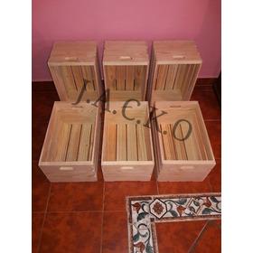 4 Cajas De Madera - Repisas - Huacales - Muebles De Madera