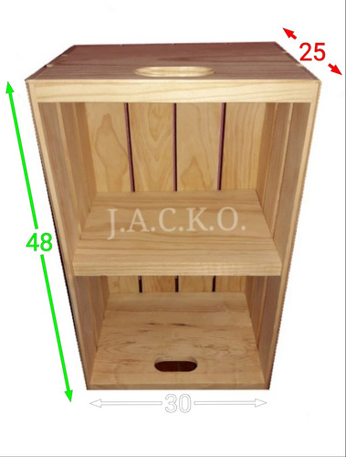 4 cajas de madera con repisa - cajones  - librero - buró