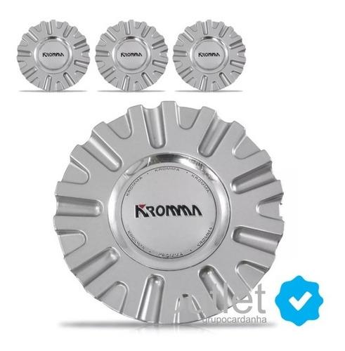 4 calotas de centro miolo tampa roda esportiva kromma kr1560