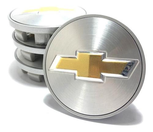 4 calotinhas miolo tampa roda chev vectra elite 60mm prata
