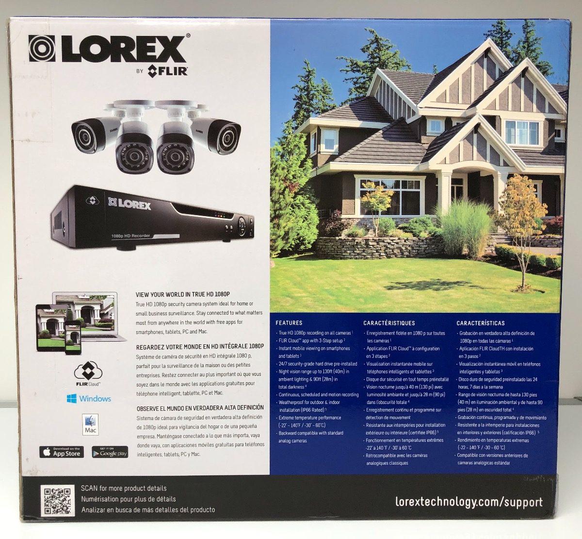 4 Camaras 1080p Lorex Sistema De Seguridad 4 Canales Hd 1 Tb