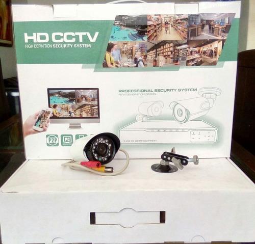 4 camaras hd con dvr 8 canales + kit de instalación
