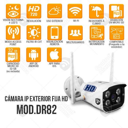 4 camaras ip exterior wifi inalambrica hd casa seguridad