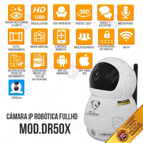 4 camaras ir robot ir 360 2mp wifi cctv seguriad 128 gb msi