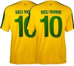 4 Camisa Adul. 1 Camisa Infa. Brasil Personalizada Com Nome - R  207 ... fb6c75ebd45fd