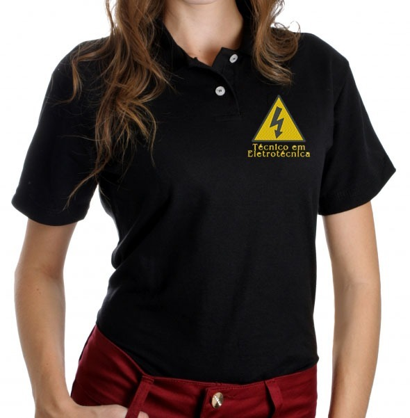 b231991117 4 Camisa Polo Feminina Bordada - Uniforme Seu Logo Na Frente - R ...