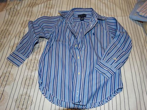 4 camisa ralph lauren manga longa - tam 4