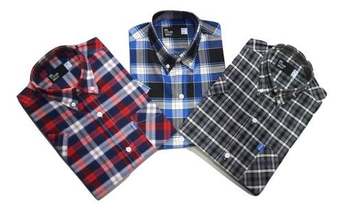 4 camisas manga larga talle especial hombre 46-48-50-52