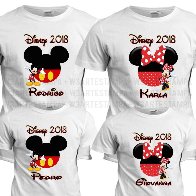 4 Camisas Parque Viagem Disney Mickey Minnie Camiseta Blusa - R  90 ... 38e439cfa706d