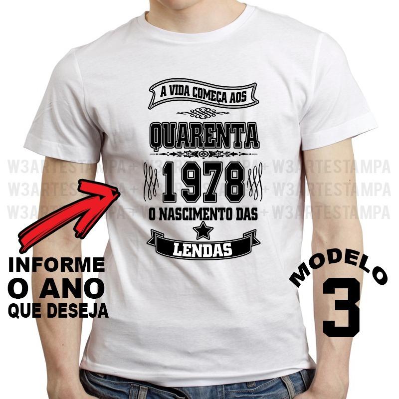 4 Camisetas A Vida Começa Aos Camisa Nascimento Das Lendas - R  104 ... c84d7cc2c6c