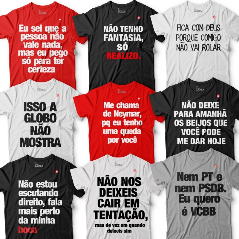 4 Camisetas Camisa Blusa Masculina Frases Legais Engraçad