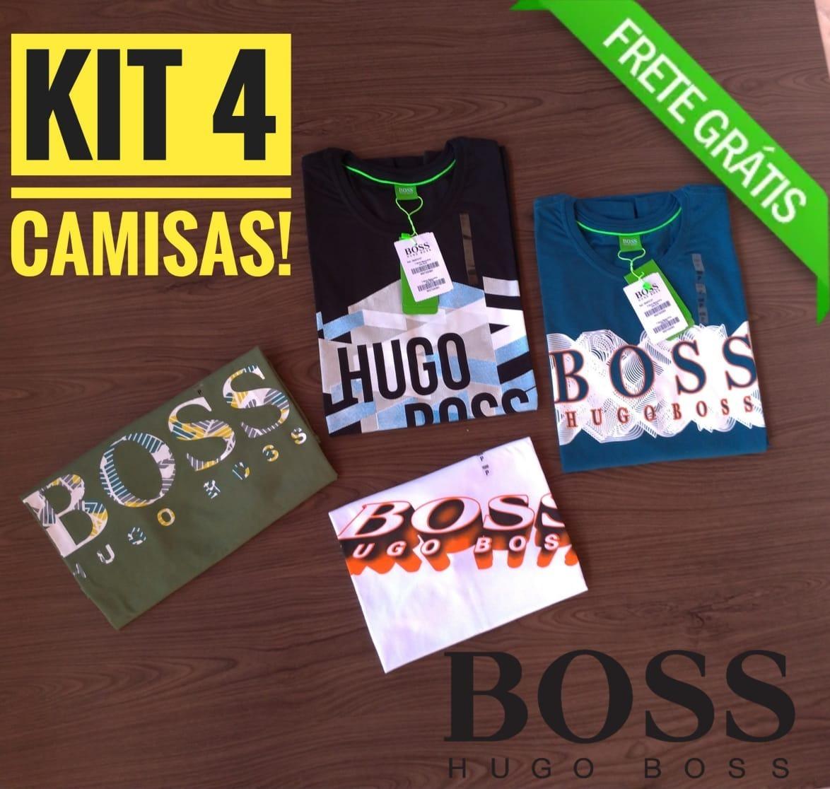 4 camisetas hugo boss importadas frete gratis. Carregando zoom. 3c8a329fa9d
