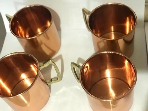 4 caneca de cobre moscow mule cobre 350 ml  casa nova