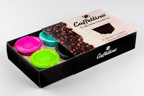 4 capsulas dolce gusto recargables caffettino - ecologicas