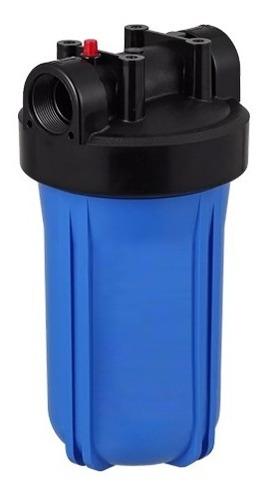 4 carcaças big blue azul filtros dágua 10x4 1/2 rosca 1 1/2
