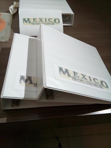 4 carpetas para tarjetas mexico sports collectibles