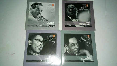 4 cds de jazz dizzy guillespie,sachmo,duk ellington - caj 4