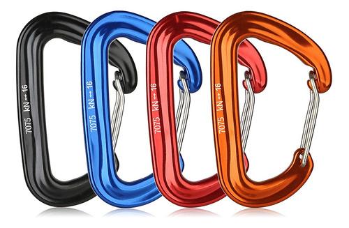 4 clips de mosquetón de 16 kn/3527lbs resistentes para hamac