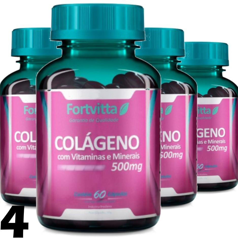 ab27e9346 4 colágeno hidrolisado 60 cápsula 500mg comprimido fortvitta. Carregando  zoom.