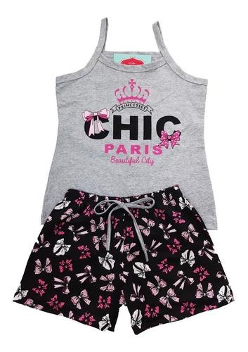 4 conjunto juvenil infantil roupa menina atacado de alcinha